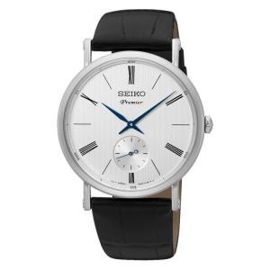 Seiko Premier Horlogeband SRK035P1 Zwart Leer