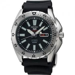 Seiko 5 Sports Horlogeband SRP357 Zwart Rubber - 22mm