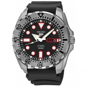 Seiko 5 Sports Horlogeband SRP601 Zwart Rubber