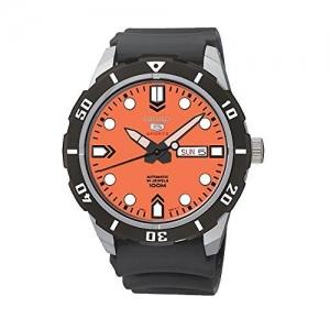 Seiko 5 Sports Horlogeband SRP675 Zwart Rubber - 22mm