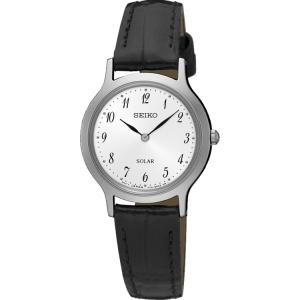 Seiko Solar Horlogeband SUP369 Zwart Leer