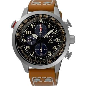 Seiko Solar Horlogeband SSC421P1 Bruin Leer