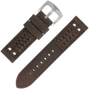 StrapWorks Woven Ranger Horlogebandje Dark Brown