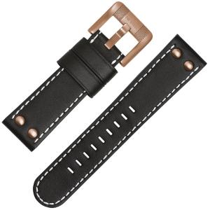 TW Steel Horlogebandje TWA959 - Zwart 24mm