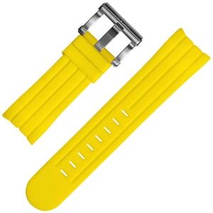 TW Steel Grandeur Tech Horlogebandje Geel Rubber Universeel