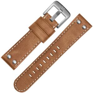 TW Steel Horlogebandje CS12, CS14 - TWS12 Lichtbruin, Wit Stiksel 24mm