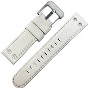 TW Steel Horlogeband Wit Kalfsleer 24mm