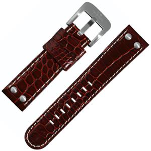 TW Steel Horlogeband Roodbruin Kroko Kalfsleer 22mm