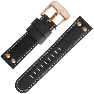 TW Steel Horlogebandje TW416, TW416 Zwart 22mm