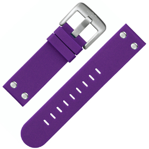 TW Steel Horlogebandje TW515 Paars Rubber Stalen Studs 22mm