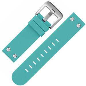 TW Steel Horlogebandje TW525 Turquoise Rubber Stalen Studs 22mm