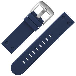 TW Steel Horlogebandje Donkerblauw Rubber 24mm