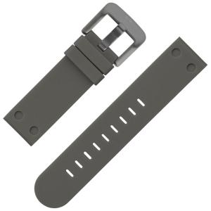 TW Steel Horlogebandje Grijs Rubber 24mm