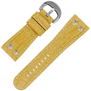 TW Steel Goliath Horlogebandje Beige Kroko Kalfsleer 30mm