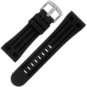 TW Steel Goliath Horlogebandje  TW17, TW19, TW20, TW79, TW118 - Zwart Rubber 26mm