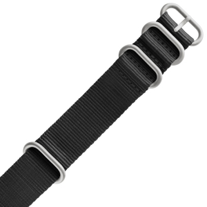 TW Steel Heavy Duty NATO Strap Black - MATTE/PVD
