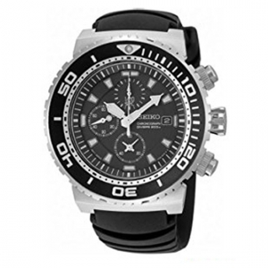 Seiko Chronograph Diver Horlogeband SNDA13P2 Zwart Rubber