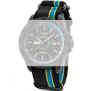 TW Steel VR10 Valentino Rossi VR|46 Horlogebandje - Zwart Nylon 22mm