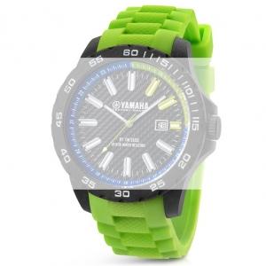TW Steel Y10 Yamaha Factory Racing Horlogebandje - Groen Rubber 22mm
