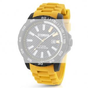 TW Steel Y11 Yamaha Factory Racing Horlogebandje - Geel Rubber 20mm