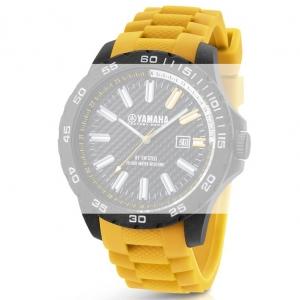 TW Steel Y12 Yamaha Factory Racing Horlogebandje - Geel Rubber 22mm