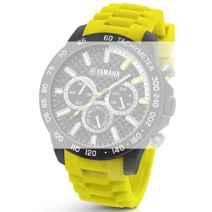 TW Steel Y120 Yamaha Factory Racing Horlogebandje - Geel Rubber 22mm