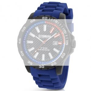 TW Steel Y2 Yamaha Factory Racing Horlogebandje - Blauw Rubber 22mm