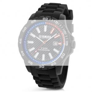TW Steel Y3 Yamaha Factory Racing Horlogebandje - Zwart Rubber 20mm