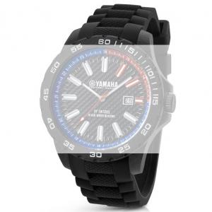 TW Steel Y4 Yamaha Factory Racing Horlogebandje - Zwart Rubber 22mm