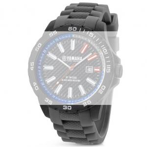 TW Steel Y8 Yamaha Factory Racing Horlogebandje - Grijs Rubber 22mm