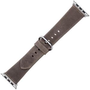 Apple Watch Horlogeband Grijsbruin Vintage Leer