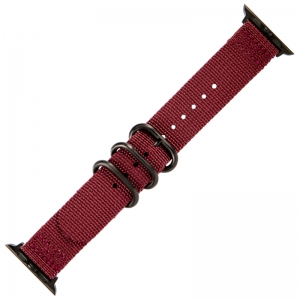 Apple Watch Two Piece NATO Nylon Horlogeband Bordeaux