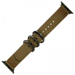 Apple Watch Two Piece NATO Nylon Horlogeband Olijfgroen