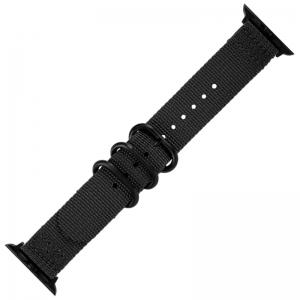 Apple Watch Two Piece NATO Nylon Horlogeband Zwart