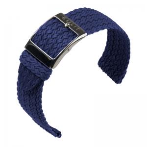 Eulit Two Piece Perlon Horlogeband Palma Pacific Marineblauw