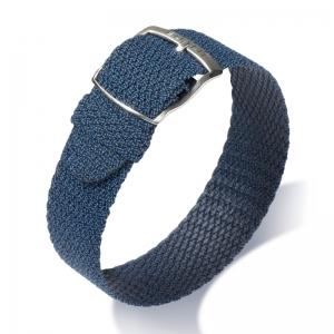 Eulit Perlon Horlogeband Panama Oud-Blauw