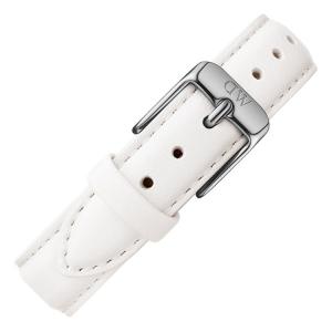 Daniel Wellington 12mm Petite Bondi Wit Leer Horlogebandje RVS Gesp