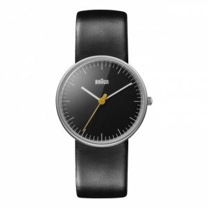 Braun Horlogeband voor BN0021BKBKL - Zwart Leer