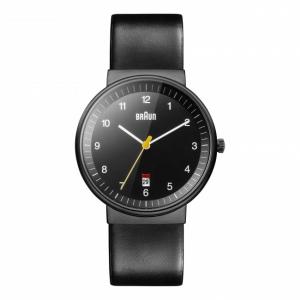 Braun Horlogeband voor BN0032BKBKG - Zwart Leer