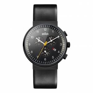 Braun Horlogeband voor BN0035BKBKG - Zwart Leer