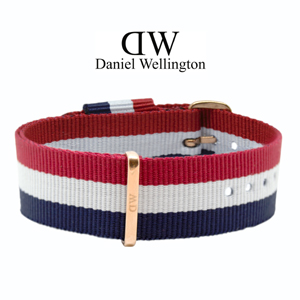 Daniel Wellington 20mm Classic Cambridge NATO Horlogebandje Rosé Gouden Gesp