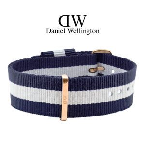Daniel Wellington 20mm Classic Glasgow NATO Horlogebandje Rosé Gouden Gesp