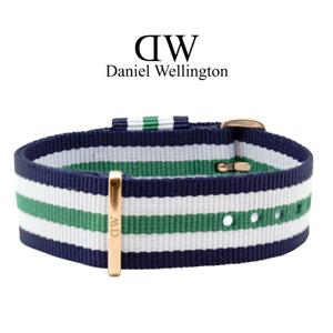 Daniel Wellington 20mm Classic Nottingham NATO Horlogebandje Ros� Gouden Gesp