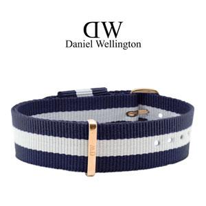 Daniel Wellington 18mm Classic Glasgow NATO Horlogebandje Rosé Gouden Gesp