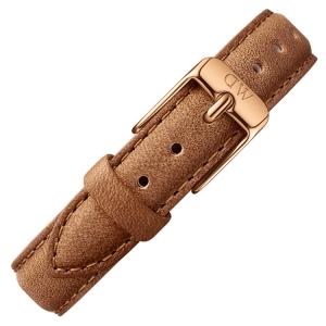 Daniel Wellington 14mm Petite Durham Bruin Leer Horlogebandje Rosé Gesp