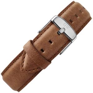 Daniel Wellington 19mm Dapper Durham Bruin Leer Horlogebandje RVS Gesp