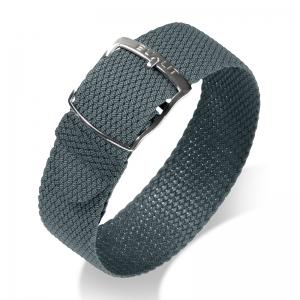 Eulit Perlon Horlogeband Kristall Grijs