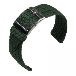 Eulit Two Piece Perlon Horlogeband Palma Pacific Groen