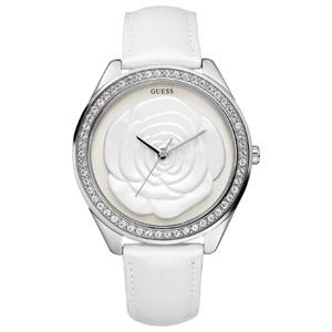 Guess Horlogebandje W85075L1 Wit Kalfsleer