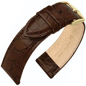 Hirsch Crocograin Horlogebandje Bruin